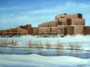 Pueblo in snow